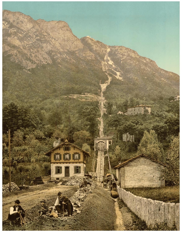 Lugano 1890 Funicolare Monte San Salvatore