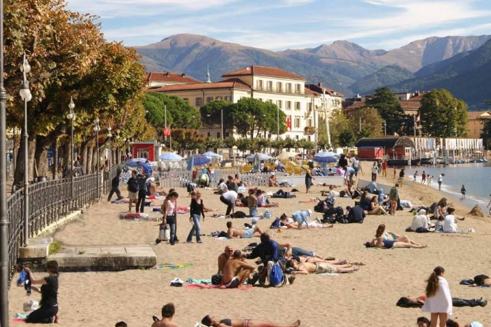 Spiaggia a Lugano