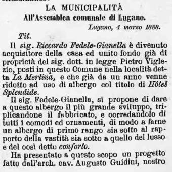1888 Gazzetta Ticinese Splendide - 1