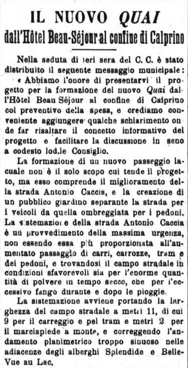 1905 Gazzatta nuovo quai