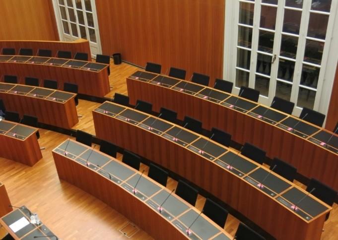 Sala consiglio comunale di Lugano